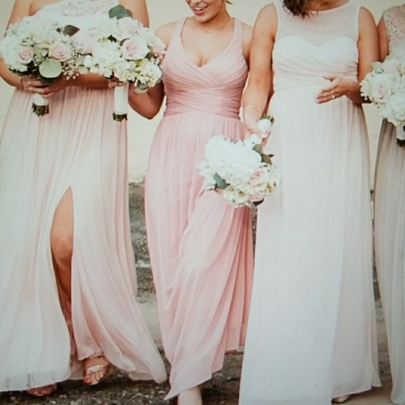 7fb0bb85d3 David s Bridal Dresses   Skirts - David s Bridal dress  mesh long  crisscross back